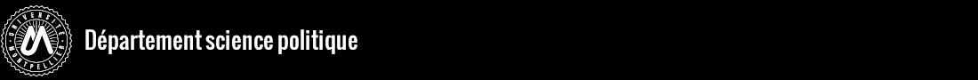Département de science politique Logo